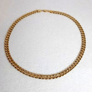 MEN'S 18K GOLD PLATED 8mm CUBAN LINK CHAIN